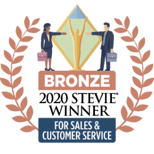 Bronze 2020 Stevie Winner for Sales & Customer Service